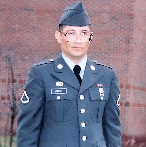 Compton Grose, a student at the Graduate School of Business, served in the Army National Guard.